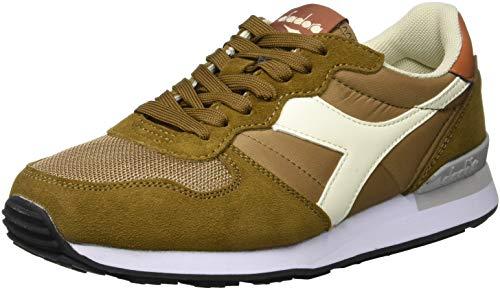 Diadora Camaro, Sneaker Uomo, Multicolore Bgreen Whisper Wht Leather Brwn C7745, 40 EU
