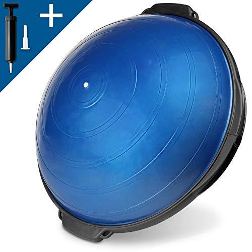 POWRX Dynaso Ball für Propriozeptives Training 55 oder 60 cm (Blau / 55 cm)