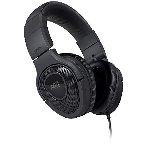 Speedlink Kopfhörer mit Mikrofon - MEDUSA STREET XE Stereo Headset 3,5mm (Kabellänge 1m - Weiche, umschließende Ohrmuscheln - Noise-Reduction-Mikrofon) für Notebooks / Smartphones schwarz