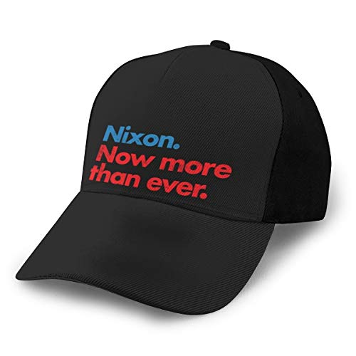 Nixon Now More Than Ever - Gorra de béisbol, color negro