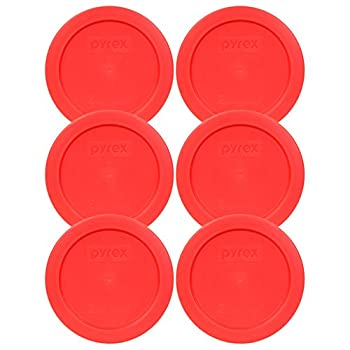 Pyrex 7200-PC Red Round 2 Cup Storage Lid for Glass Bowl  6 Red
