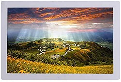 Marcos de fotos digitales, 19 pulgadas 1366 × 768 Resolución 1080P Se puede colocar verticalmente Máquina publicitaria Álbum electrónico Pantalla LCD LED HD 16: 9 Temporización Encendido y apagado Re