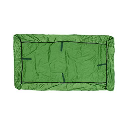LFONCE Cubierta de columpio impermeable de repuesto para exteriores, cubierta de toldo para porche, patio, jardín, hecha de tafetán de poliéster recubierto de plata 190 impermeable (verde)
