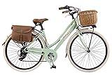 Via Veneto by Canellini Bicicleta Bici Citybike CTB Mujer Vintage Retro Via Veneto Aluminio (Verde Claro, 46)