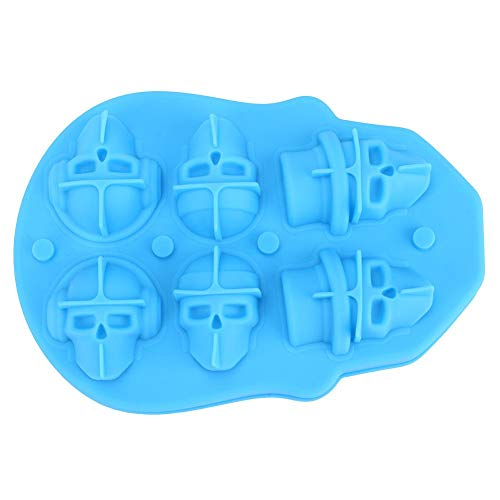 6 Grids 3D Skull Head Ice Cube Silicone Mold Wine Ice Cube Tray Maker Mould