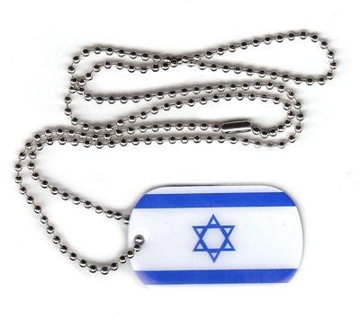 Dog Tag Israel Erkennungsmarke 30 x 50 mm Fahne Flagge