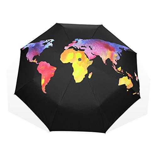 Paraplu Simple Map 3 Folds Lichtgewicht Anti-UV