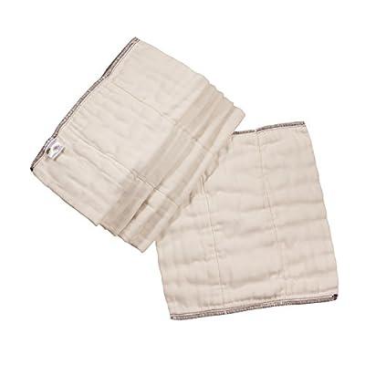 Osocozy Bamboo Organic Cotton Prefolds - 6 Pack