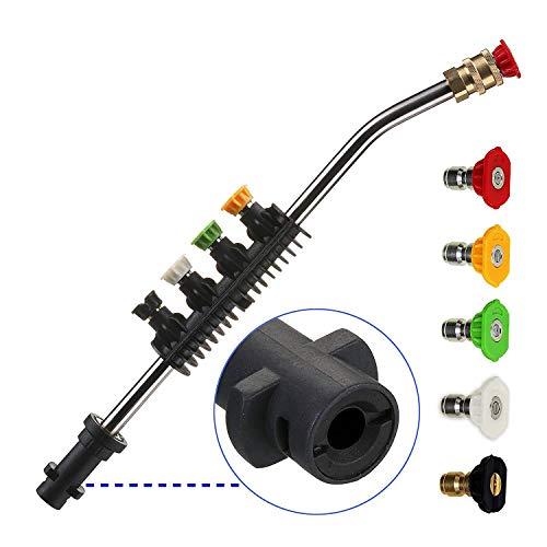 Rallonge pour nettoyeur haute pression avec adaptateur, lance de rechange, uniquement compatible avec Karcher K2, K3, K4, K5, K6, K7, 38,1 cm