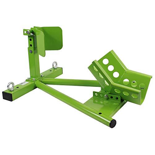 Baumarktplus TrutzHolm® Motorradständer Montageständer Radhalter Motorradwippe Transportständer für Anhänger | für Radgröße: ca. 17