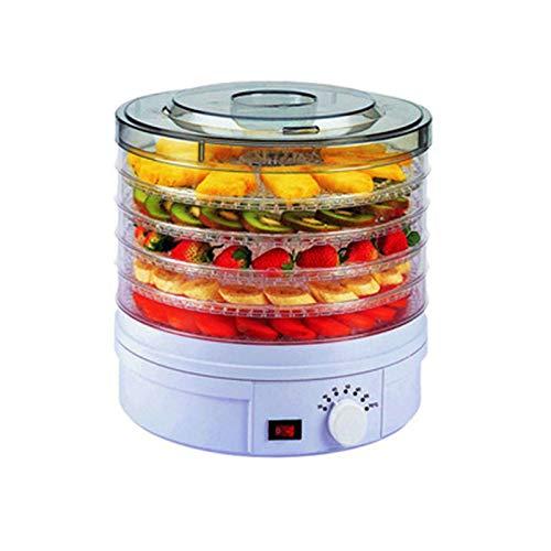 QIA Elektrischer Dörrapparat für Lebensmittel, Temperatureinstellung am Knopf, Haushalts-Trockenobstmaschine aus ABS in Lebensmittelqualität