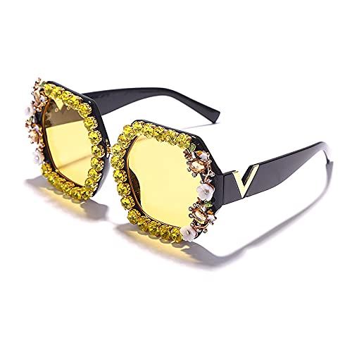 ShZyywrl Gafas De Sol De Moda Unisex Gafas De Sol De Gran Tamaño para Mujer Y Hombre, Gafas De Cristal De Tendencia para Hombre Y Mujer, Anteojos Vintage, Gran
