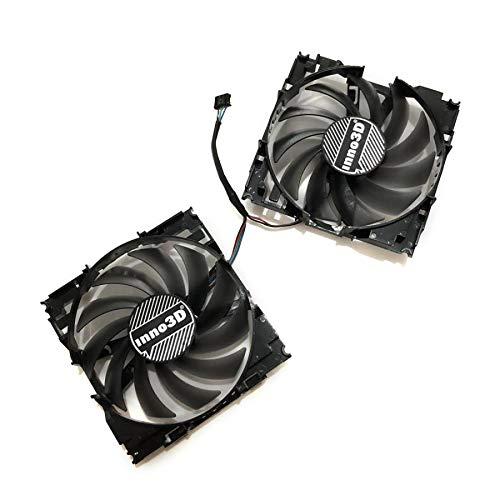 Miwaimao 2pcs/Set CF12915S InnoVISION GTX1060 GPU VGA Card Cooler Fan For INNO3D GEFORCE GTX 1060 6GB X2 Graphics Card As Replacement