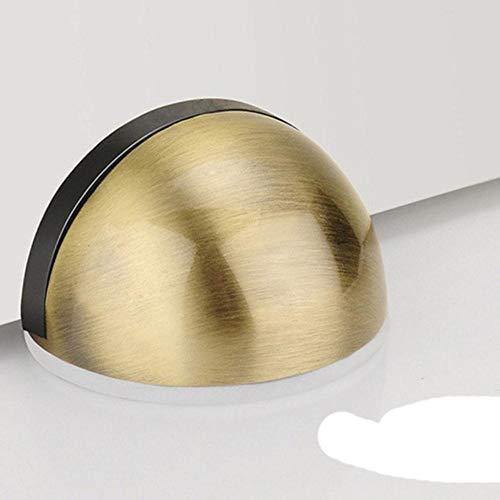 25 # Tope de puerta magnético de goma de acero inoxidable Pegatina sin perforaciones Soportes de puerta ocultos Topes de puerta sin clavos montados en el piso-República Checa, E