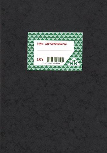 RNK 2371 Kombiniertes Lohn- und Gehaltskonto - Buch, 40 Seiten, DIN A4