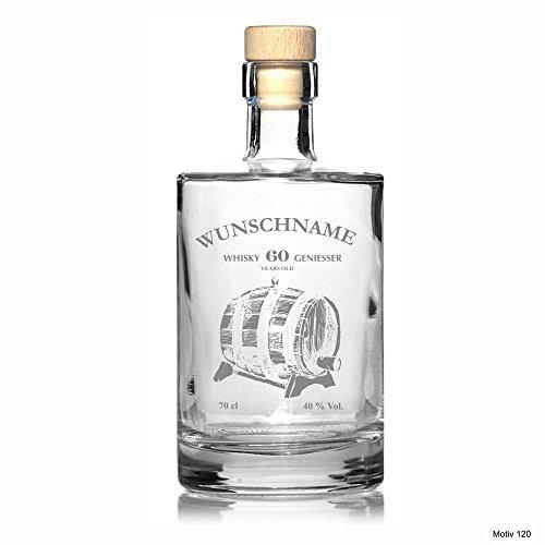 Edle Whisky Karaffe/Whisky Flasche 'Aventura' inkl. persönlicher Gravur - wahlweise mit bis zu 6 Gläser - Motiv 120, Zusätzliche Gläser:ohne Gläser Titelbild