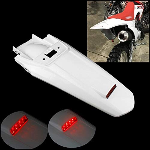 Mrwzq Dirt Bike LED Taillight Mud Guard Rear Fender Fit For Honda CRF230F CRF 230 2015-2019 Enduro Red Stop Light Mudguard Car Decoration