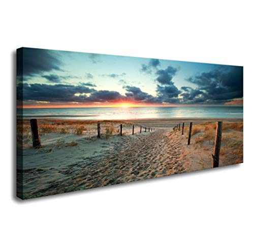 Canvas Wall Art Beach Sunset Ocean Nature Pictures Long Canvas Artwork Prints Contemporary 20in x40in Wall Art Decor for Home Living Room Bedroom Decoration Office Wall Decor Framed Ready to Hang …