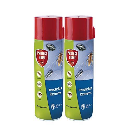 Protect Home Insecticida Blattanex, acción inmediata contra cucarachas, Hormigas e Insectos Rastreros, 500ml (Pack de 2), Azul, Talla Única