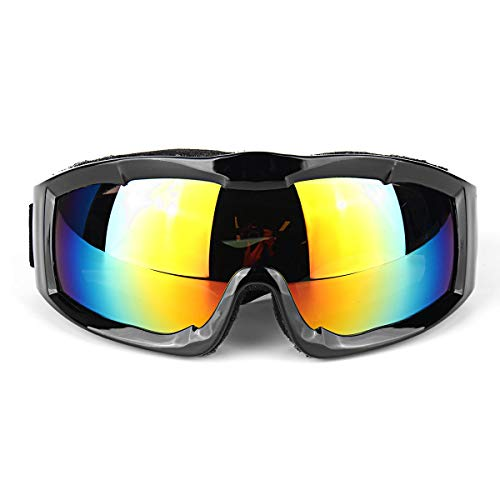 OPOLLY 904 Motocycle Skibril Unisex Winddichte Stofdichte Bril 4color Motorfiets Winddichte Goggles Motorbike Bright black