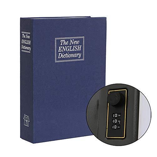 Youngshion The New English Dictionary Book Safe Diversion Secret Caja de seguridad con cerradura de combinación para dinero en efectivo, joyería oculta (pequeño, azul)