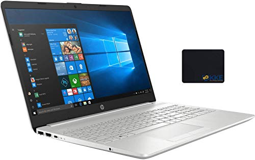 2020 Newest HP 15 Laptop, 15.6' HD Touchscreen, 10th Gen Intel Core i5-1035G1 Processor up to 3.6GHz, 16GB DDR4 Memory, 1TB Hard Disk Drive, Backlit Keyboard, HDMI, Win10, Silver, KKE Mousepad