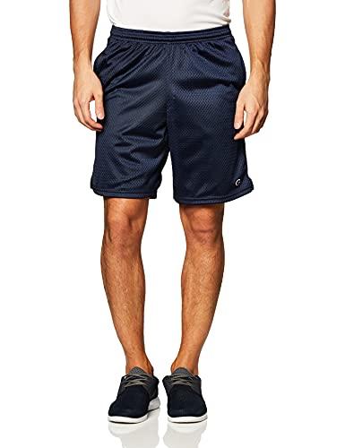 Champion Men's Long Mesh Short With Pockets,Navy,MEDIUM