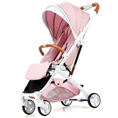 Cochecitos para bebés, cochecitos de muñeca, altura ajustables, adecuados para cunas recién nacidas con cunas, toldos grandes, hasta 20 kg,A