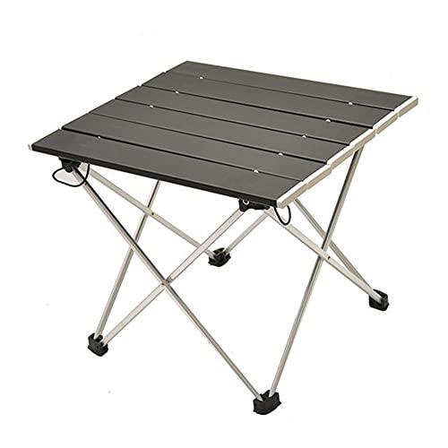 Flystpp Mesa Plegable portátil Camping Muebles de al Aire Libre Mesas de Cama Mesas de Cama Picnic Aluminio Aleación Ultra Luz de Picnic Detalle Escritorio (Color : Black)