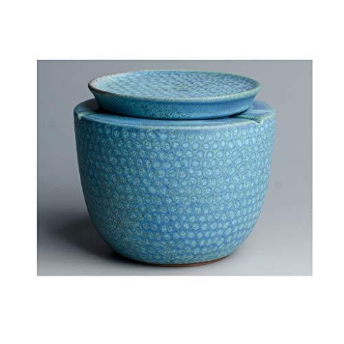 Teri Cenicero Cigarrillos Cenicero, Cenicero de cerámica con Tapa, Mesa Cenicero, Cenicero a Prueba de Viento de la Familia de la Sala de té decoración de la Tabla (Color : Blue)