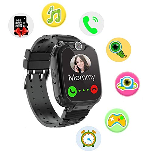 OUTAD Kids Smart Watch Phone for 3-12 Years Old Boys Girls Toddlers, Smart Watches for Children with Calling, SOS, SD Card, Fun Games, Camera, Timer, Alarm, Child Birthday Gifts Educational Toys