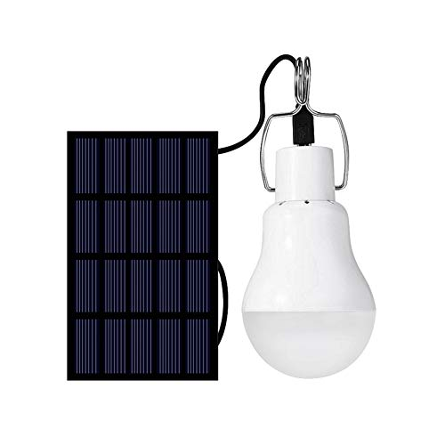 Solar Light Bulb 130LM Solar Lamp Portable LED Light Solar Panel Powered Rechargeable Lights for Home Shed Barn Indoor Outdoor Emergency Hiking Tent Reading Camping Night Work Light