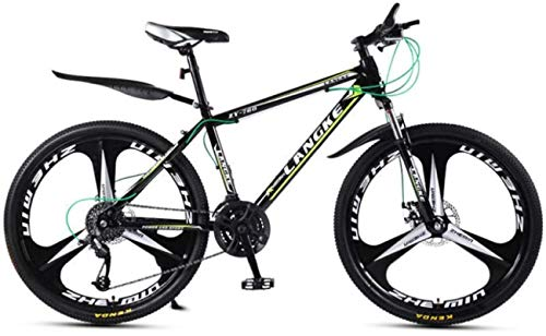 HCMNME Bicicletas de montaña, Bicicleta Variable Variable de la Bicicleta de la montaña de 24 Pulgadas y Femenina Bicicleta de Tres Ruedas Cuadro de aleación con Frenos de Disco