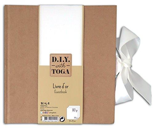 D.I.Y with Toga Mariage Livre d'Or, Autre, Kraft, 20 x 0.2 cm