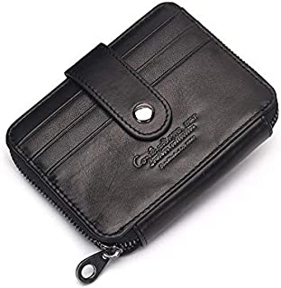 Contacts Black Leather For Unisex - Card & ID Cases
