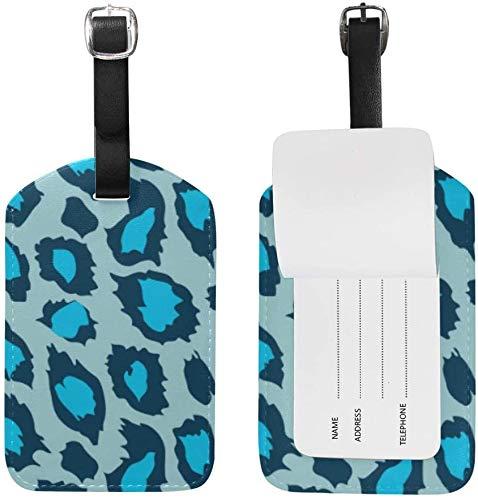 Giraffe blau Bedruckte Kunst Leder Gepäck Gepäck Koffer Tag ID ID Label für Reisen