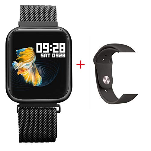 QXbecky Reloj InteligenteMonitor deFitness de audición de presión ArterialPantalla a Color de1.3Pulgadas Deportes Pulsera Impermeable Negro