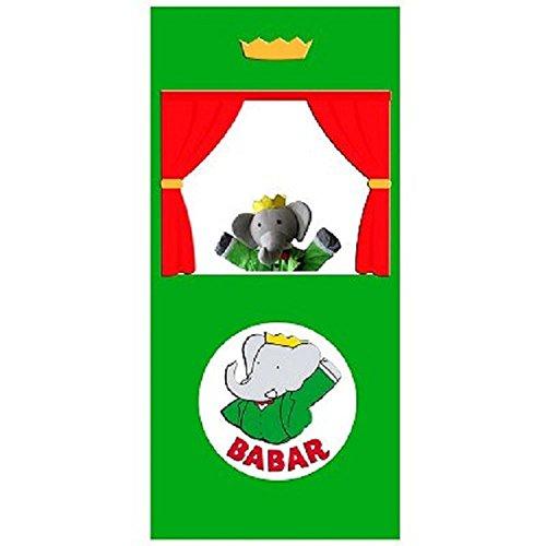 Théatre Babar en tissu et marionnette Babar