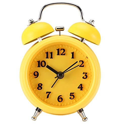 Wekker, bed student met lichte grote ring wekker leuke alarm klok kinderen wekker slaap zware wekker