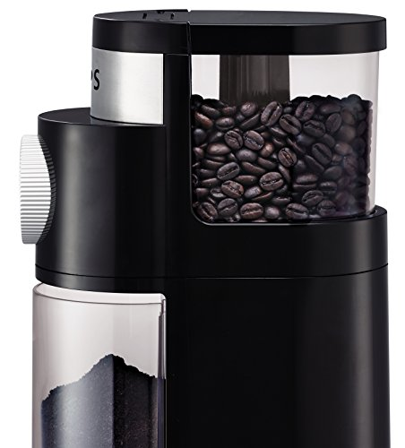KRUPS 8000035978 GX5000 Professional Electric Coffee Burr Grinder with Grind Size and Cup Selection, 7-Ounce, Black