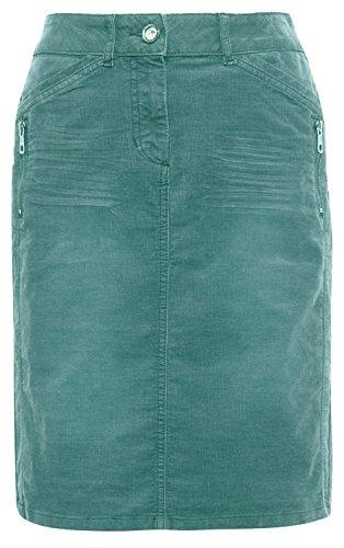 TOM TAILOR Damen Casual Zipper Skirt Rock, Grün (Salvia Green 7547), 38