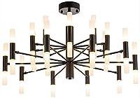 家の装飾のシャンデリア現代の金属の枝の寝室の天井の照明の据え付け品透明なガラスが付いている台所のための現代幾何学的なブラシをかけられた真鍮の掛かるランプ