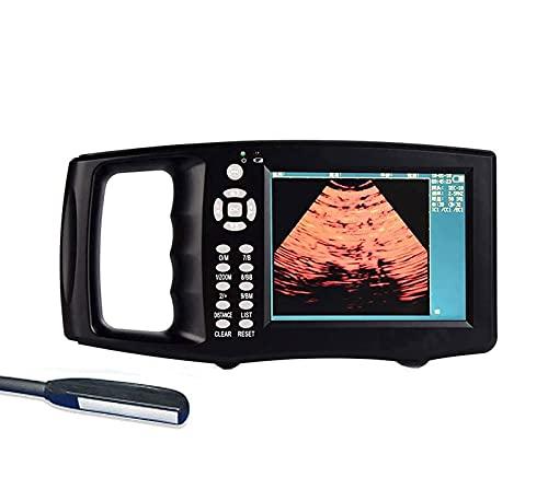 Máquina de escáner de ultrasonido, probador de embarazo con ultrasonido Vet B, dispositivo de diagnóstico de ventilador mecánico de escaneo a color de 6.5MHz, utilizado para inspección de ganado Bov