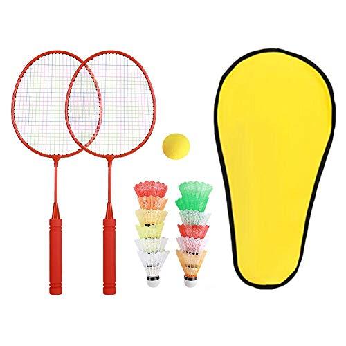 RBSD Raqueta de bádminton, Material Seguro NBR Raqueta de bádminton al Aire Libre Inodoro, para niños(Watermelon Red Long Shot Without Edge)
