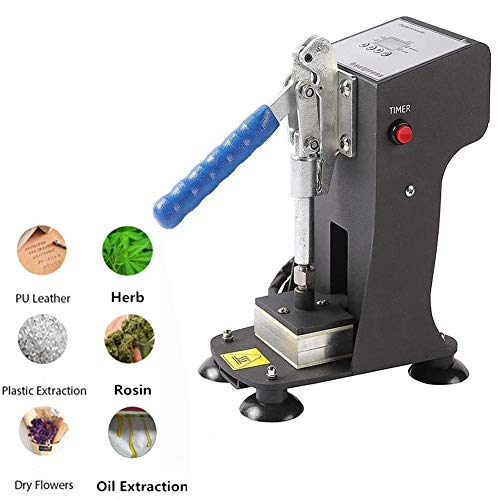 DSYYF Máquina de Prensa de Calor para colofonia, máquina de Calor de Placa de Aluminio de Doble Calor Máquina de extracción de Aceite de colofonia Digital (presión de 500 kg)