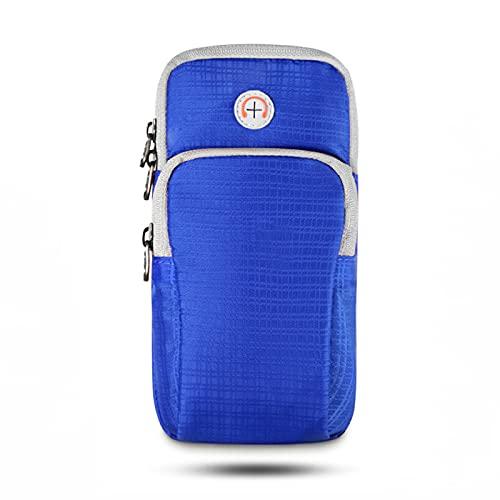 WANZPITS Brazalete de célula de Brazalete de Brazalete de Brazalete de Brazalete de célula Bolsa con Orificio para Auriculares para 5'-6' Soporte para teléfono Inteligente,Blue 01