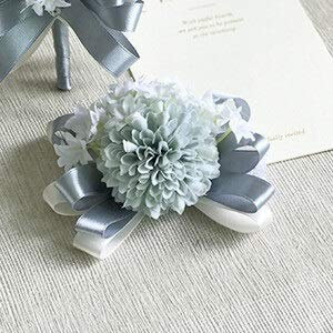Yuhualiyi123 Hochwertige Braut Hochzeit Boutonniere Handgelenk Blume Anzug simuliert Hydrangea...