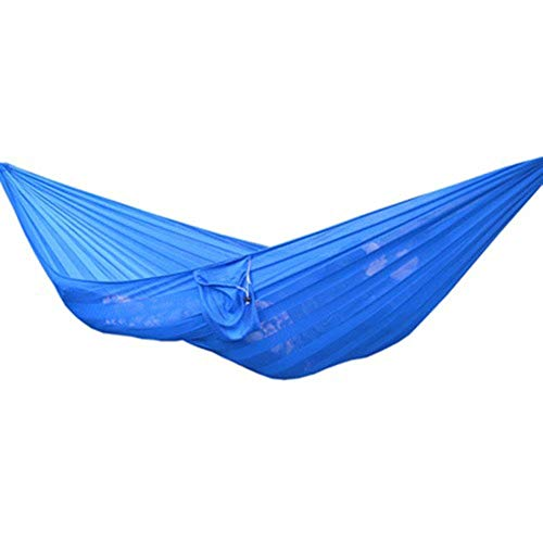 WLD Beach Tent Outdoor Leisure Double Hammock Ice Silk Mesh Breathable Mesh Single Mesh Indoor Children's Swing Hammock Adult Child Sleeping Chair for Patio Yard Camping