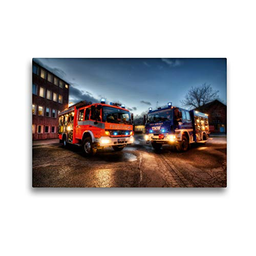 CALVENDO Premium Textil-Leinwand 45 x 30 cm Quer-Format HLF u GKW (BF & THW Braunschweig), Leinwanddruck von Markus Will