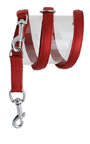 Koch U4431902 Nylon-Leine UNI 4fach verstellbar gepolstert, M, rot, breite: 19 mm